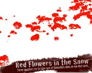 Red flowers in the snow
